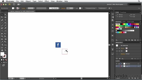 Understanding image sprites: Illustrator for Web Design