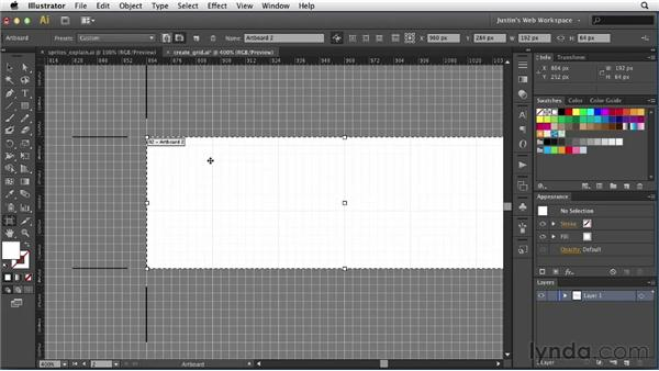 Creating a sprite grid: Illustrator for Web Design
