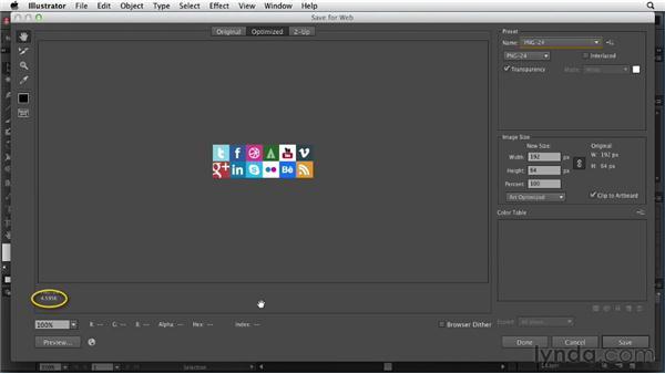 Optimizing sprites for the web: Illustrator for Web Design