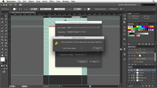 Exporting Illustrator artwork as a PSD: Illustrator for Web Design