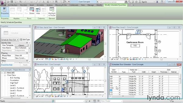 Working in one model with many views: Revit Architecture 2013 Essential Training