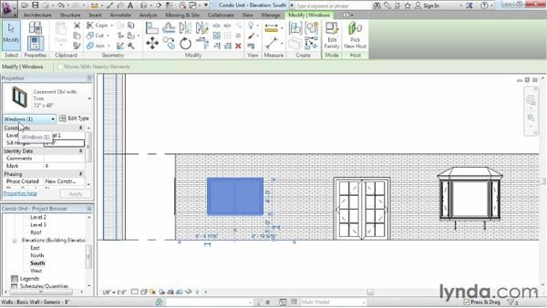 Using the Properties palette: Revit Architecture 2013 Essential Training