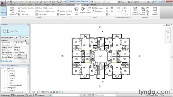 Using the Project Browser: Revit Architecture 2013 Essential Training