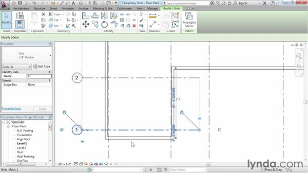 Refining a layout with temporary dimensions: Revit Architecture 2013 Essential Training
