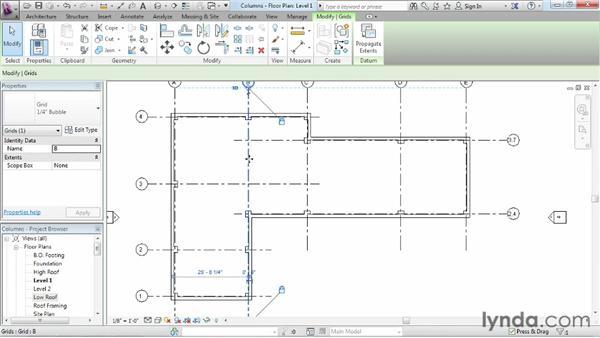 Adding columns: Revit Architecture 2013 Essential Training