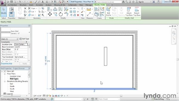Exploring wall properties and types: Revit Architecture 2013 Essential Training