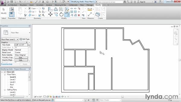 Using the modify tools: Revit Architecture 2013 Essential Training