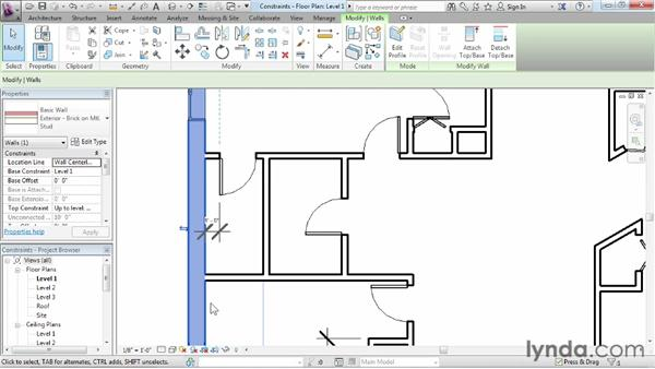 Using constraints: Revit Architecture 2013 Essential Training