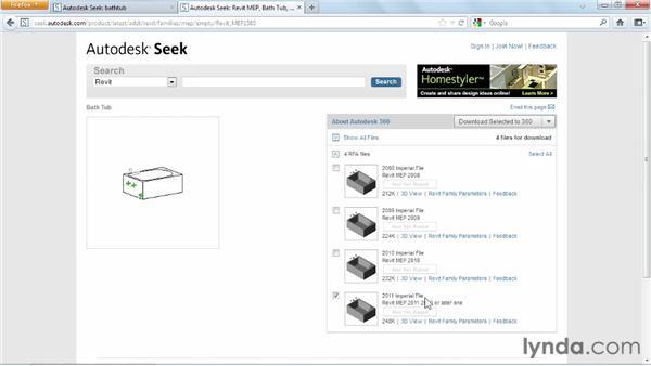 Using Autodesk Seek: Revit Architecture 2013 Essential Training