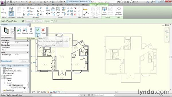 Creating a group: Revit Architecture 2013 Essential Training