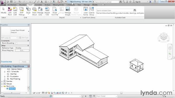 Creating Revit links: Revit Architecture 2013 Essential Training