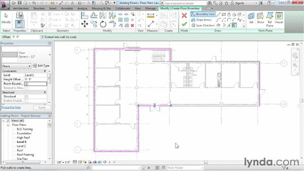 Working with floors: Revit Architecture 2013 Essential Training