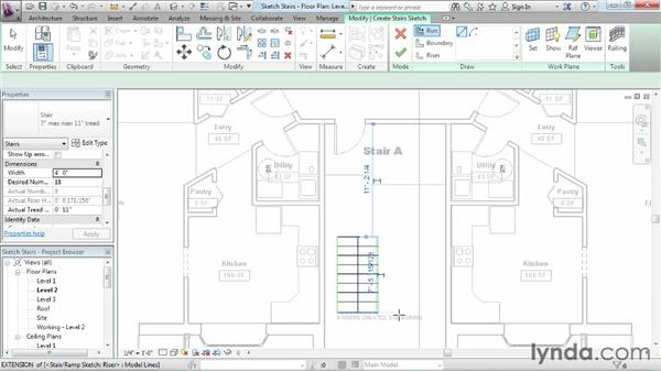 Working with stairs: Revit Architecture 2013 Essential Training