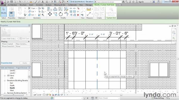 Adding curtain grids, mullions, and panels: Revit Architecture 2013 Essential Training