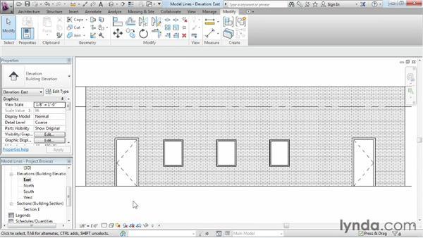 Exploring model lines: Revit Architecture 2013 Essential Training