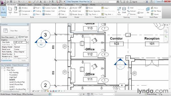Using view templates: Revit Architecture 2013 Essential Training