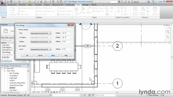 Understanding view range: Revit Architecture 2013 Essential Training