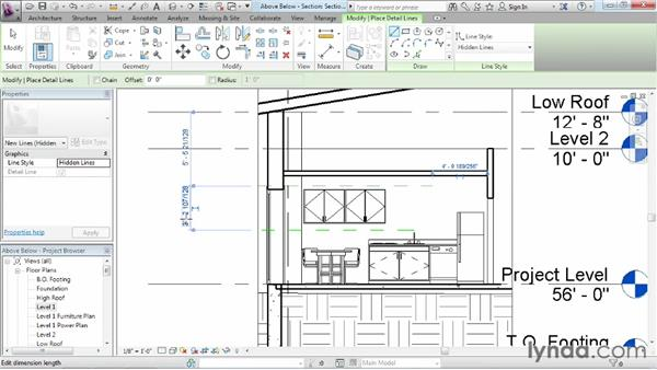 Displaying objects above and below in plan views: Revit Architecture 2013 Essential Training