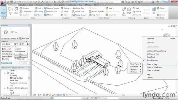 Using cutaway views: Revit Architecture 2013 Essential Training