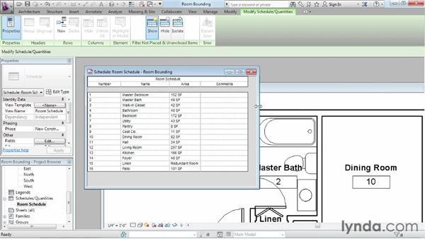Understanding room bounding elements: Revit Architecture 2013 Essential Training