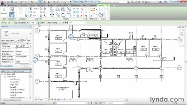 Understanding tags: Revit Architecture 2013 Essential Training