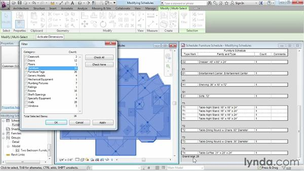 Modifying schedule views: Revit Architecture 2013 Essential Training