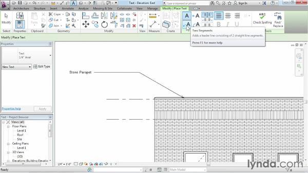 Adding text: Revit Architecture 2013 Essential Training