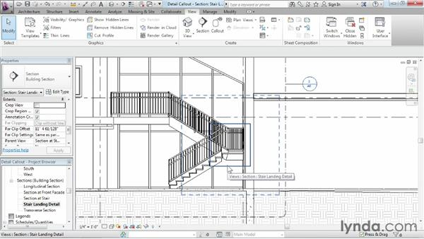 Creating a detail callout: Revit Architecture 2013 Essential Training