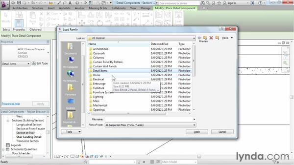 Adding detail components: Revit Architecture 2013 Essential Training