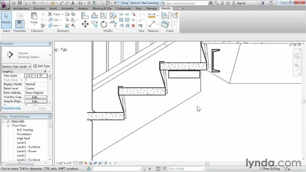 Using arrays to duplicate objects parametrically: Revit Architecture 2013 Essential Training