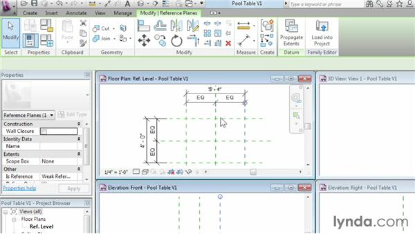 Using reference planes, parameters, and constraints: Revit Architecture 2013 Essential Training