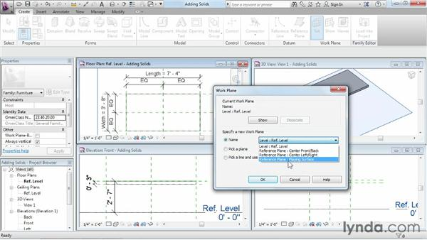 Adding solid geometry: Revit Architecture 2013 Essential Training