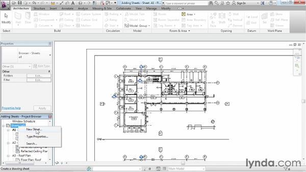 Adding sheets: Revit Architecture 2013 Essential Training