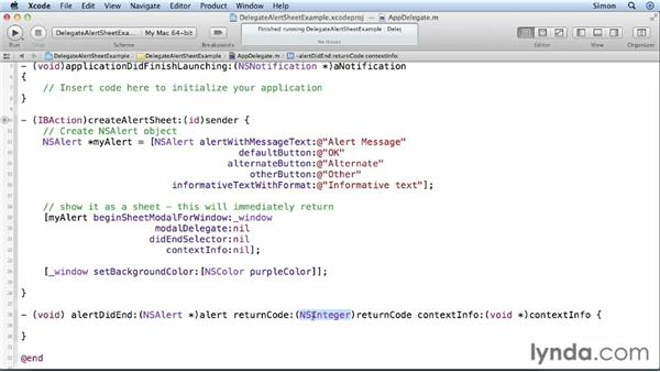 Delegation for simple objects: Cocoa Essential Training
