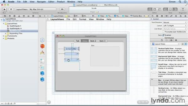 Using layout views: Cocoa Essential Training