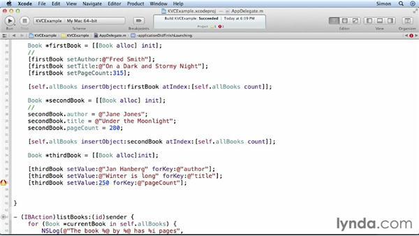 Using Key-value coding: Cocoa Essential Training