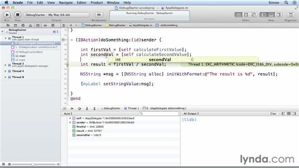 Using the Xcode Debugger: Cocoa Essential Training
