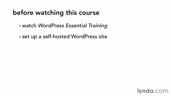 What you should know before watching this course: Start with a Theme: Creative Portfolios in WordPress