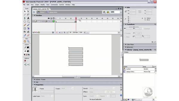 creating a popup menu: Flash MX 2004 Essential Training