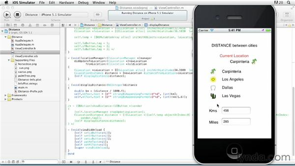 Determining the distance between two locations: iOS SDK: Building Apps with MapKit and Core Location