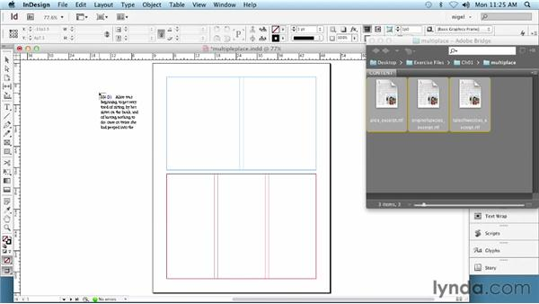 Placing multiple text files: InDesign Typography (2012)