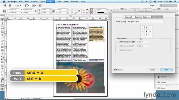 Using Auto-Size text frames (CS6 and later): InDesign Typography (2012)