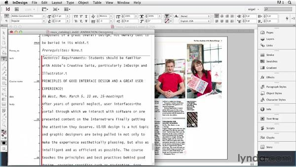 Using the Story Editor: InDesign Typography (2012)
