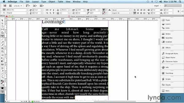 Understanding text essentials: InDesign Typography (2012)