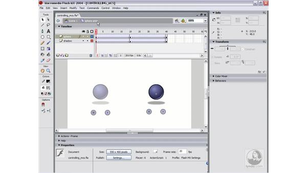 controlling movie clips: Flash MX 2004 Essential Training