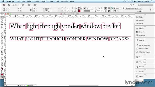 Setting type in all caps: InDesign Typography (2012)