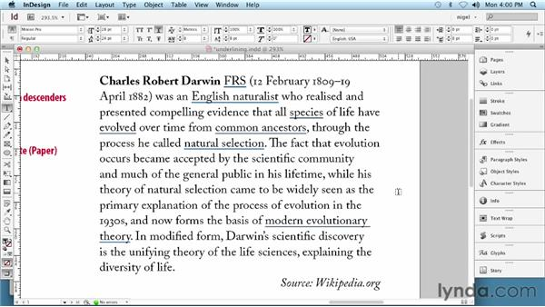 Underlining type: InDesign Typography (2012)