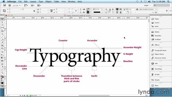 Understanding type anatomy: InDesign Typography (2012)