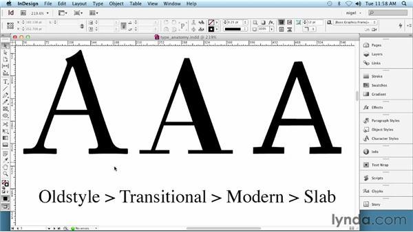 Exploring serif and sans serif: InDesign Typography (2012)