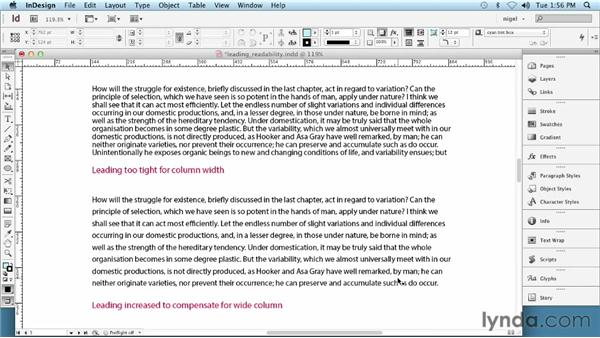 Setting leading: InDesign Typography (2012)